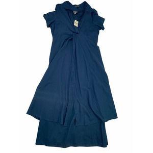 J. Jill NEW sz 14 Navy Blue Dress Set Maxi Midi